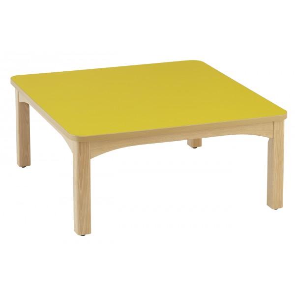 Table carr e 80 x 80 cm cr che et maternelle for Table 80 x 80
