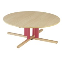 Table ronde avec pied central