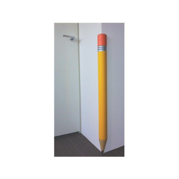 Protection coin de mur stylo jaune cr che maternelle for Protection mur exterieur enterre