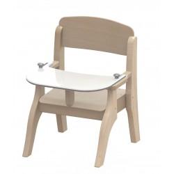Chaise repas en bois Wikicat