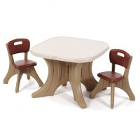TABLE ET 2 CHAISES TRADITION PITIPA