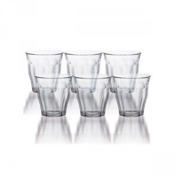 LOT DE 6 VERRES TRADITIONNEL 9 CL DURALEX
