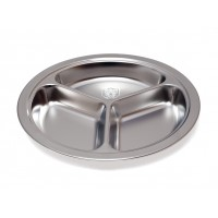 ASSIETTE INOX 3 COMPARTIMENTS 24 CM