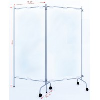 LOT DE 6 CLOISONS MOBILE TRANSPARENTE