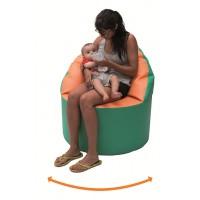 Siège d'allaitement avec disque de rotation