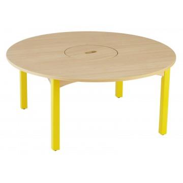 Table ronde 102 cm avec bac central Wikicat