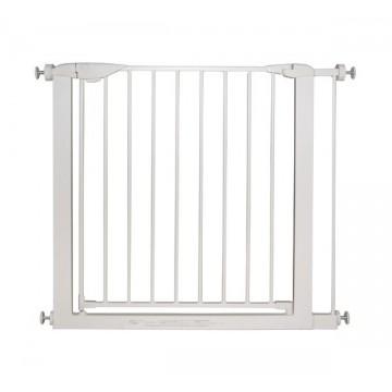 Barrière en métal blanc